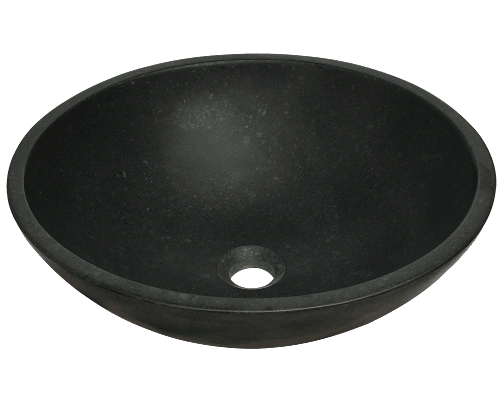 854 Honed Basalt Black Granite Vessel Sink