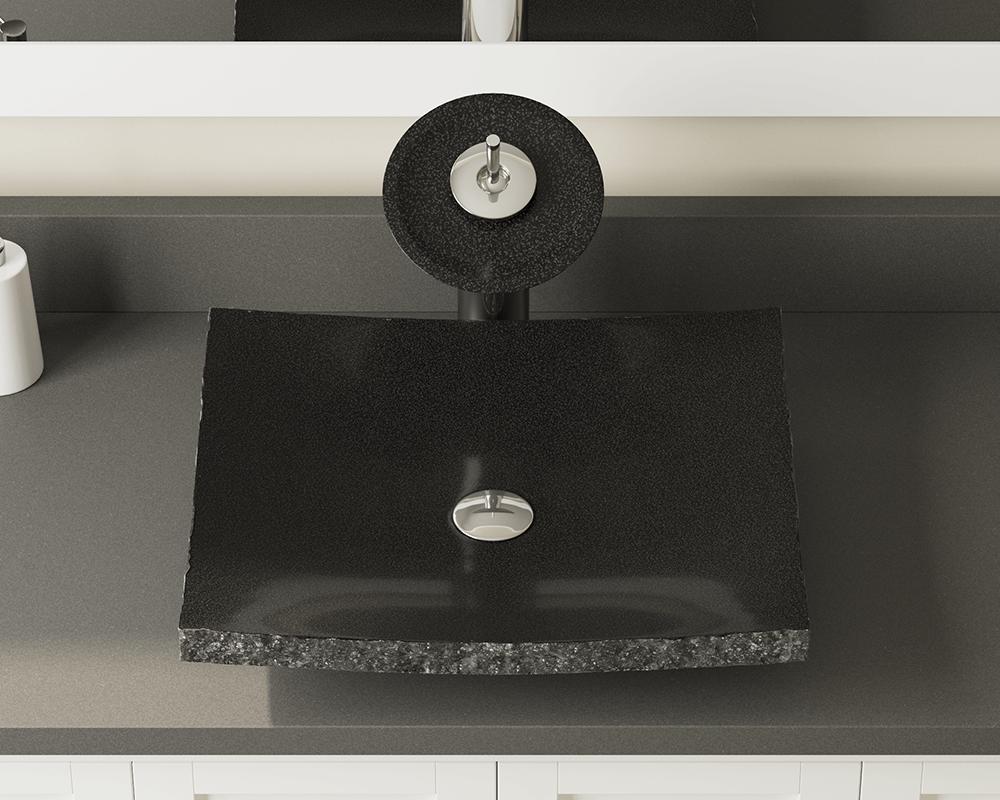 855 Shanxi Black Granite Vessel Sink