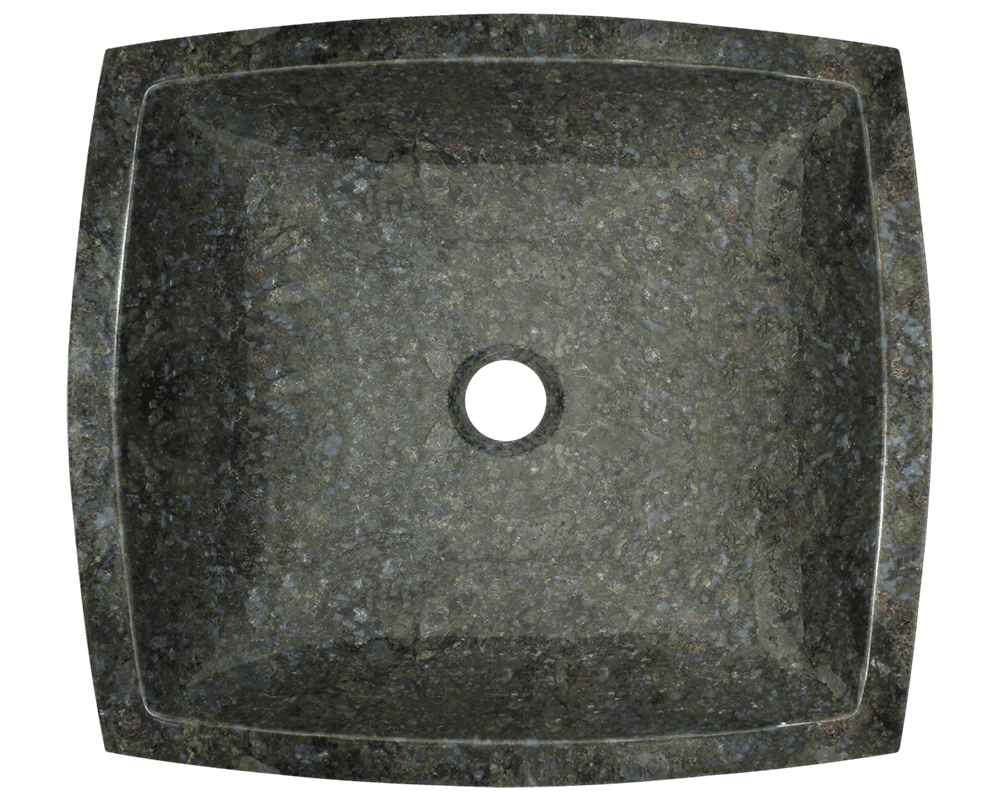 857 Alt Image: Natural Granite Square Vessel Black Bathroom Sink