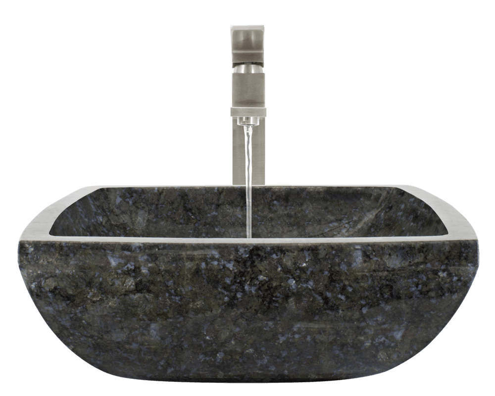 857 Alt Image: Natural Granite Vessel Square Black Bathroom Sink