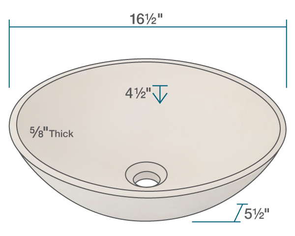"The dimensions of 871 Sandstone Vessel Sink is 16 1/2"" x 16 1/2"" x 5 1/2"". Its minimum cabinet size is 18""."