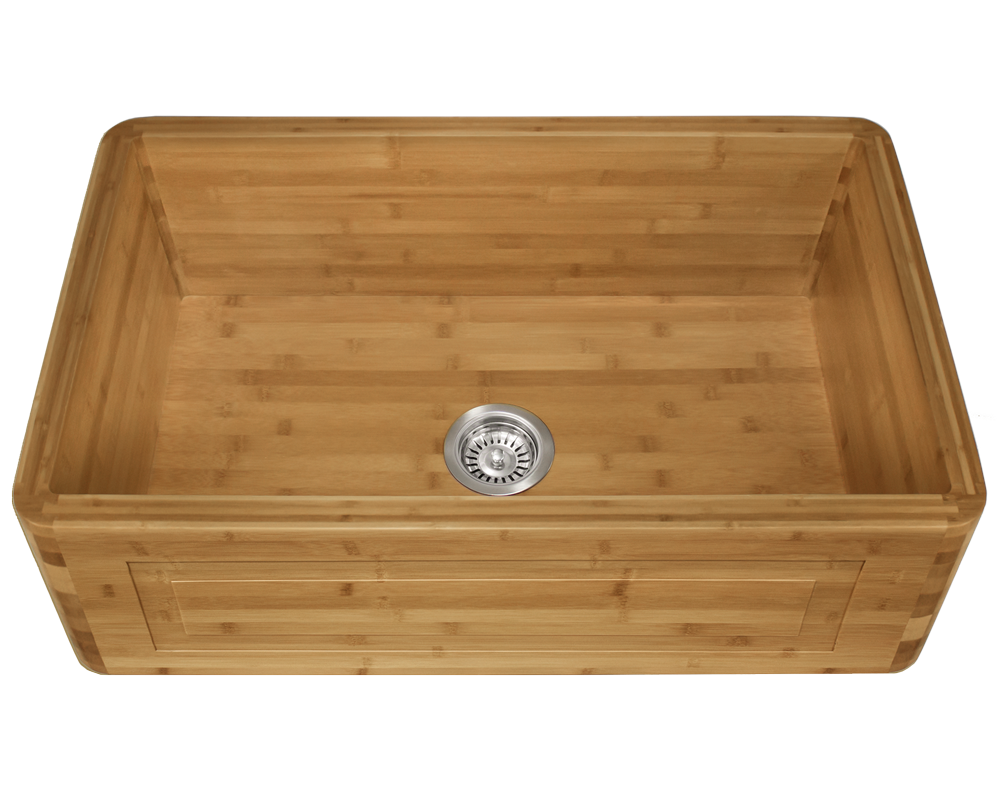 MR Direct 894 Single Bowl Bamboo Apron Sink