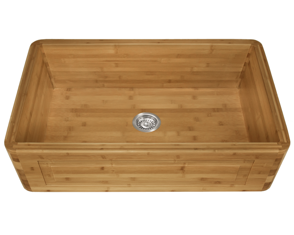 MR Direct 895 Single Bowl Bamboo Apron Sink