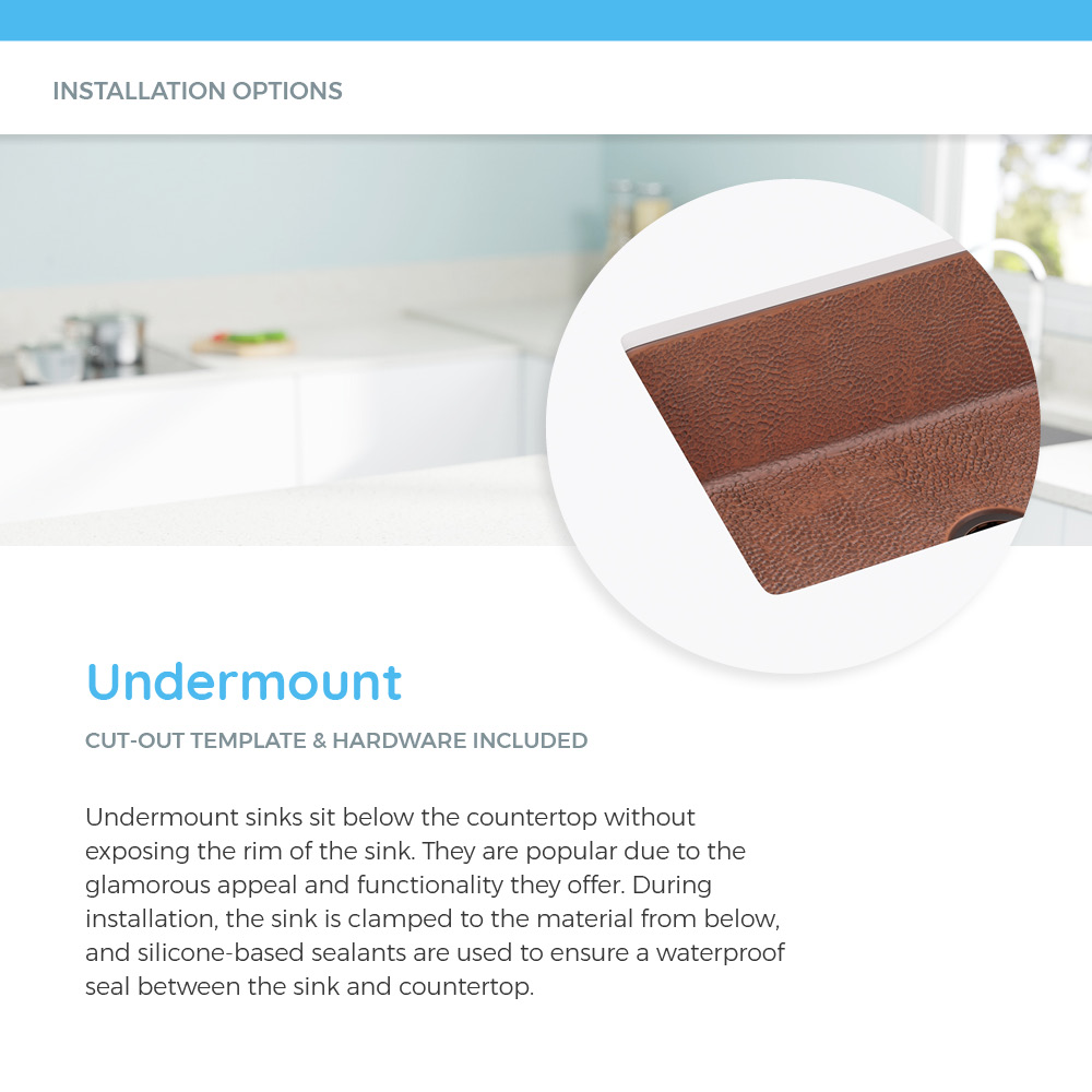 Undermount copper sink