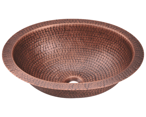 909 Single Bowl Oval Copper Sink