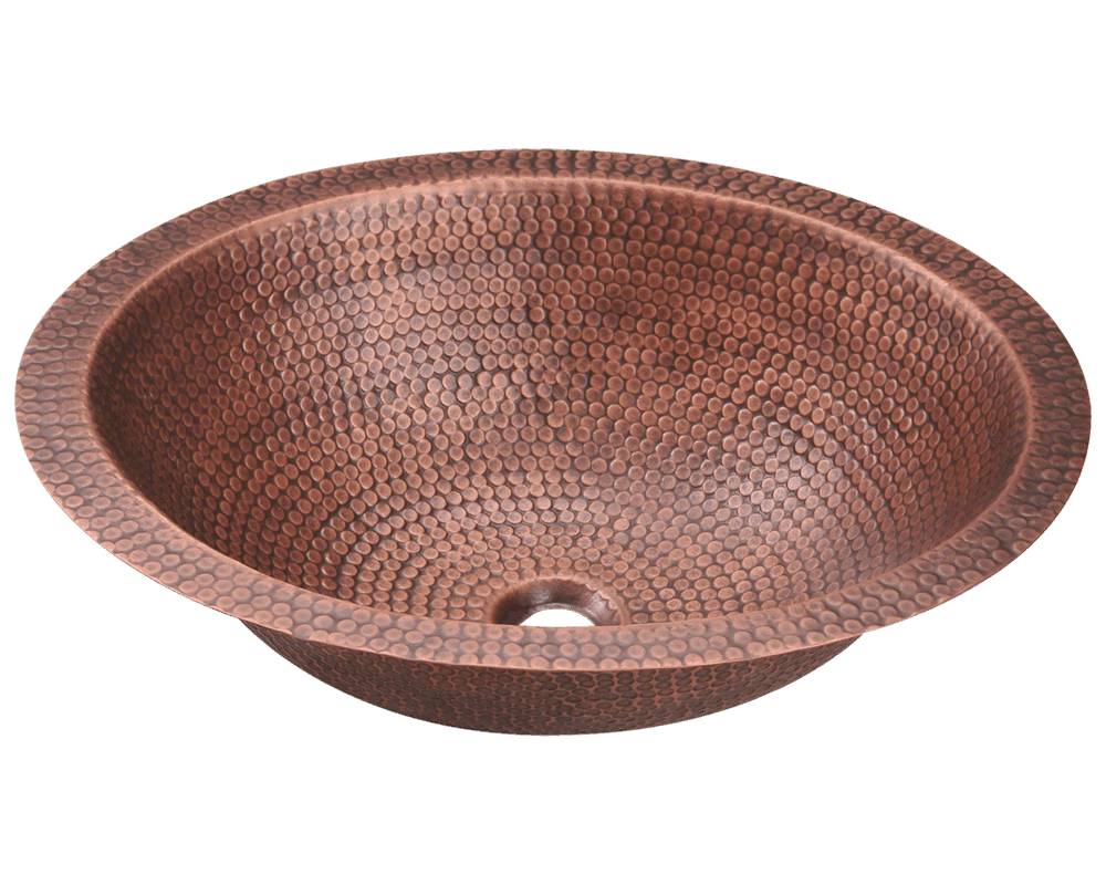 MR Direct 910 Single Bowl Oval Copper Sink