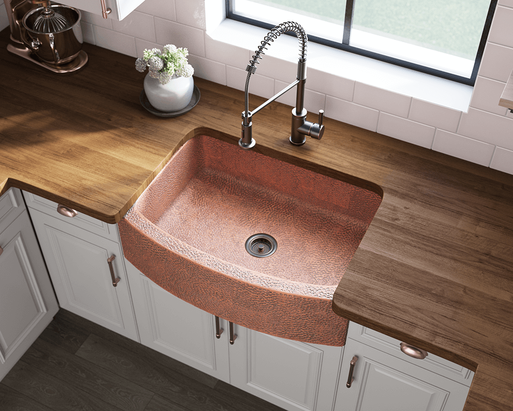 914 Single Bowl Copper Apron Sink