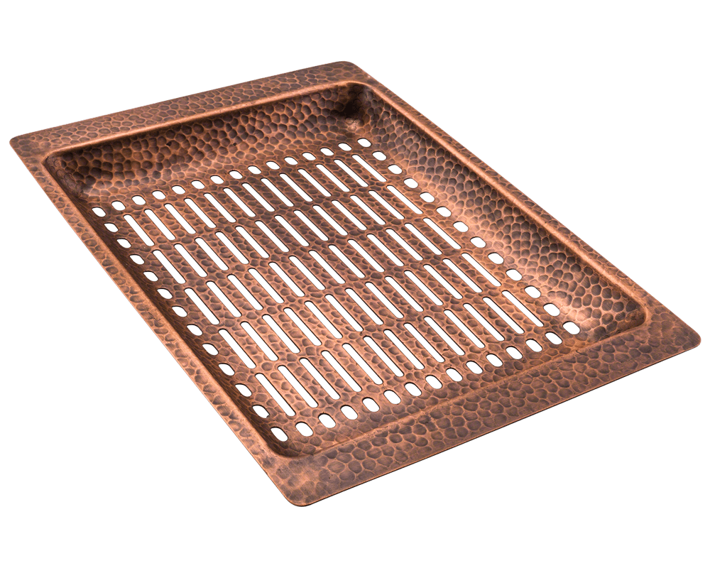 915 Alt Image: 99.9% Pure, Mined Copper /Topmount Rectangle Natural Kitchen Sink