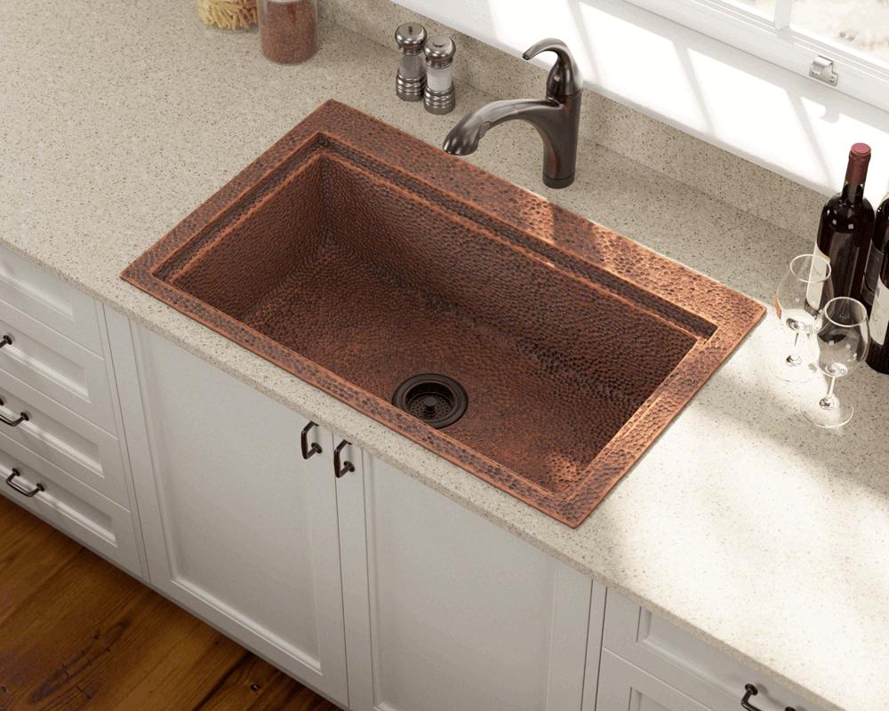 915 Single Bowl Dual Mount Copper Sink