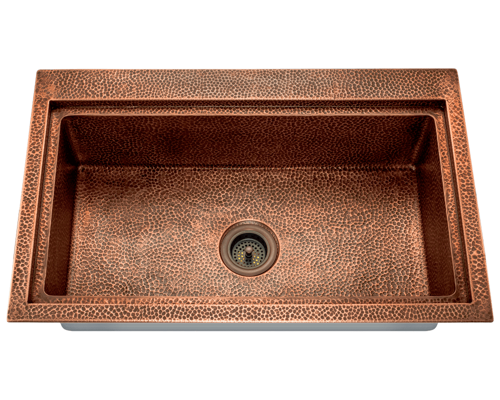 915 Single Bowl Dual Mount Copper Sink