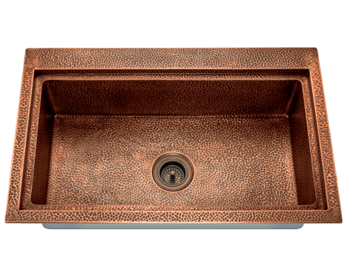 Kitchen copper sink rustic cabinets kitchen copper with for Rachiele sink complaints