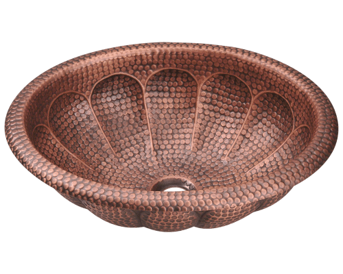 921 Single Bowl Oval Copper Sink