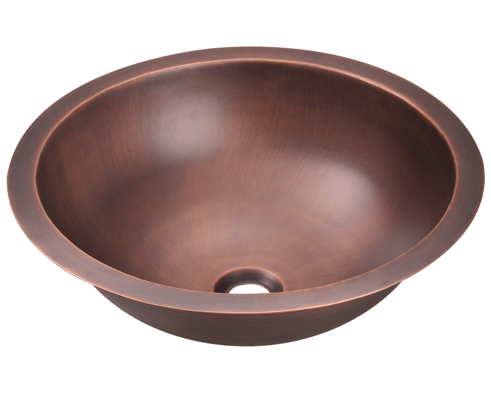 MR Direct 922 Single Bowl Copper Bathroom Sink