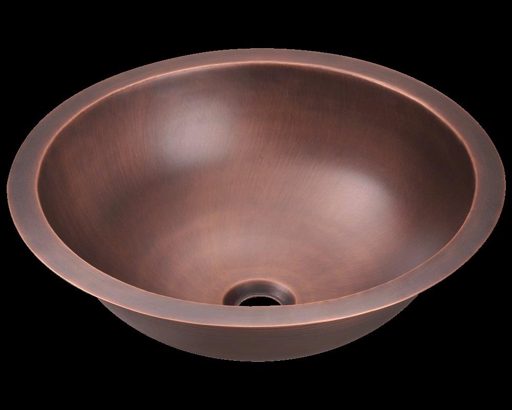Single Bowl Copper Bathroom Sink