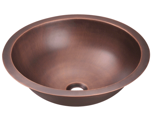 MR Direct 922 922 Single Bowl Copper Bathroom Sink