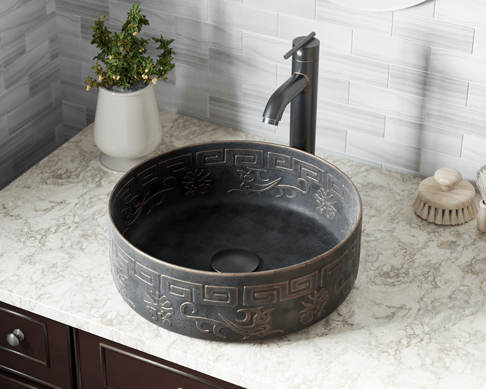 953 Lifestyle Image: Pure Cast Bronze Round One Bowl Vessel Bathroom Sink