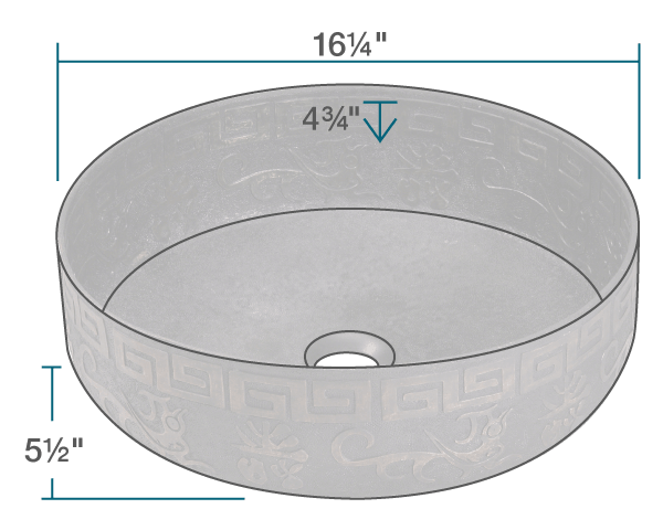 "The dimensions of 953 Single Bowl Vessel Bronze Bathroom Sink is 16 1/4"" x 16 1/4"" x 5 1/2"". Its minimum cabinet size is 18""."