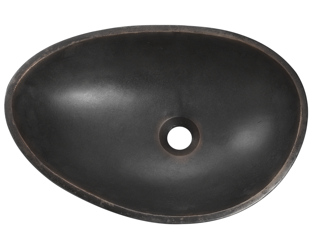 956 Alt Image: Pure Cast Bronze Oval Vessel One Bowl Bathroom Sink