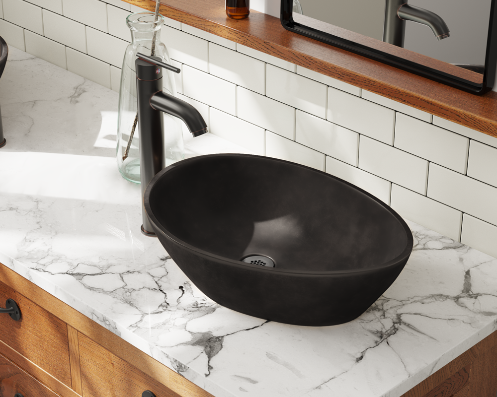 956 Lifestyle Image: Pure Cast Bronze Oval One Bowl Vessel Bathroom Sink