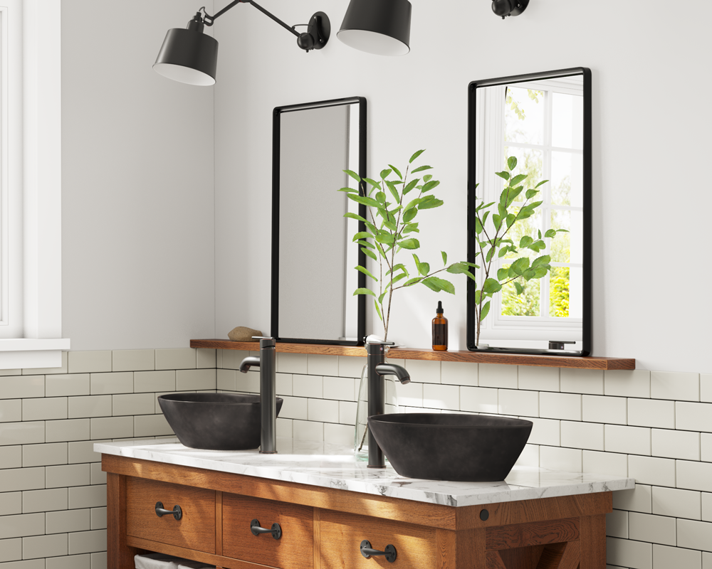 956 Lifestyle Image: Pure Cast Bronze Oval Vessel One Bowl Bathroom Sink