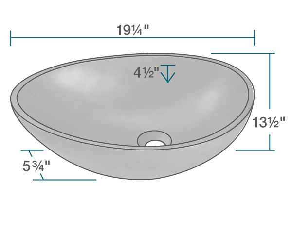 "The dimensions of 956 Bronze Vessel Sink is 19 1/4"" x 13 1/2"" x 5 3/4"". Its minimum cabinet size is 21""."