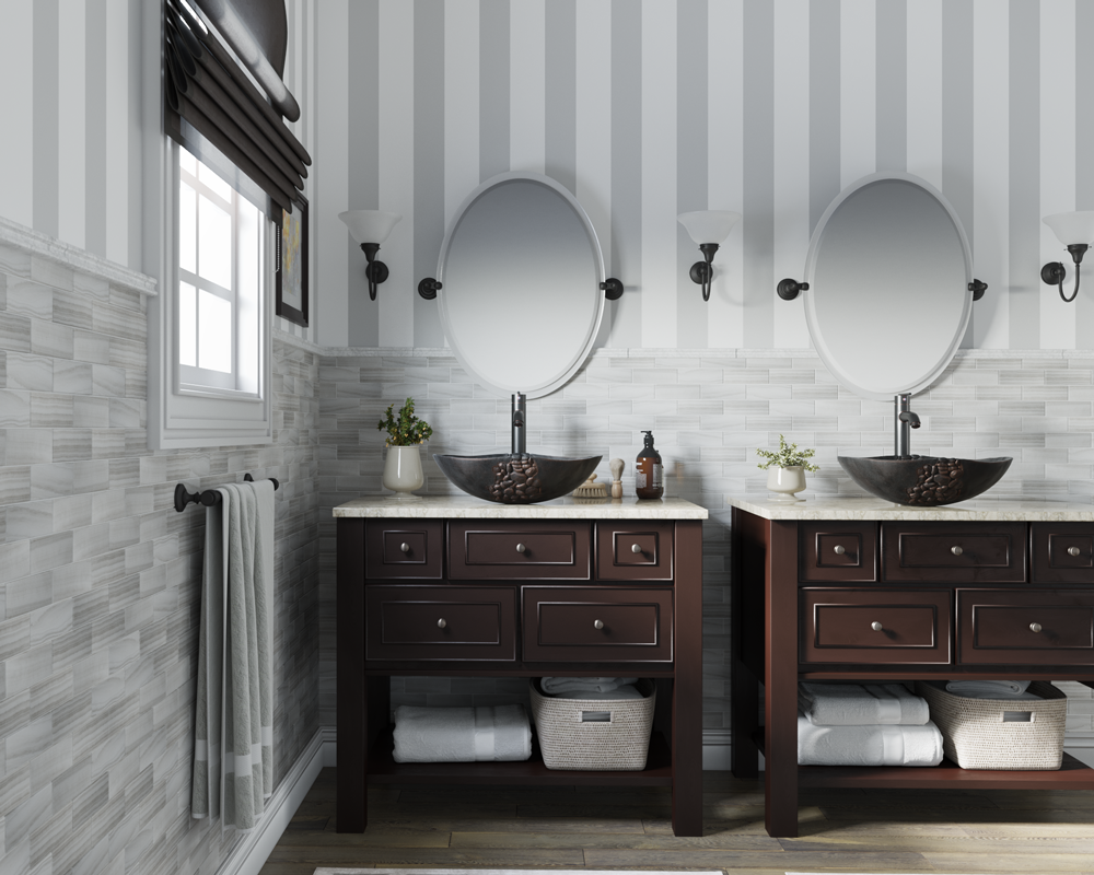 958 Lifestyle Image: Pure Cast Bronze Oval One Bowl Vessel Bathroom Sink