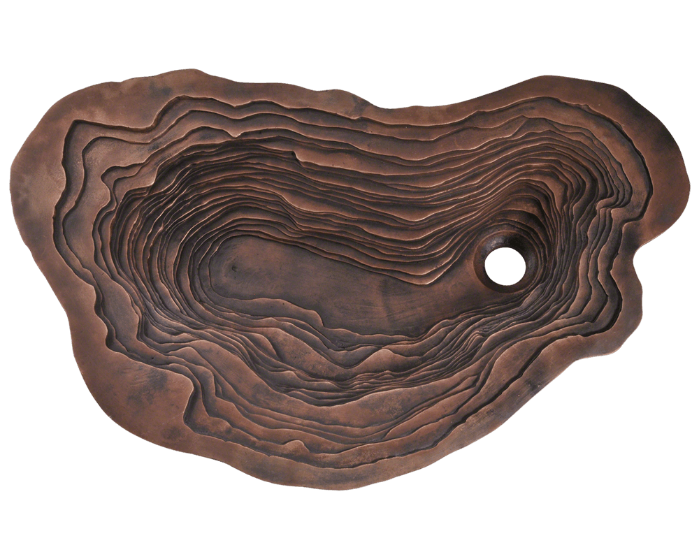 961 Alt Image: Pure Cast Bronze Oval Undermount One Bowl Bathroom Sink