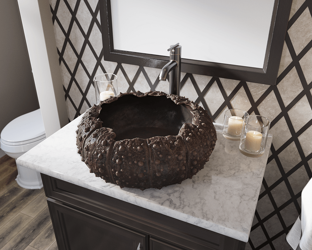 964 Lifestyle Image: Pure Cast Bronze Other One Bowl Vessel Bathroom Sink