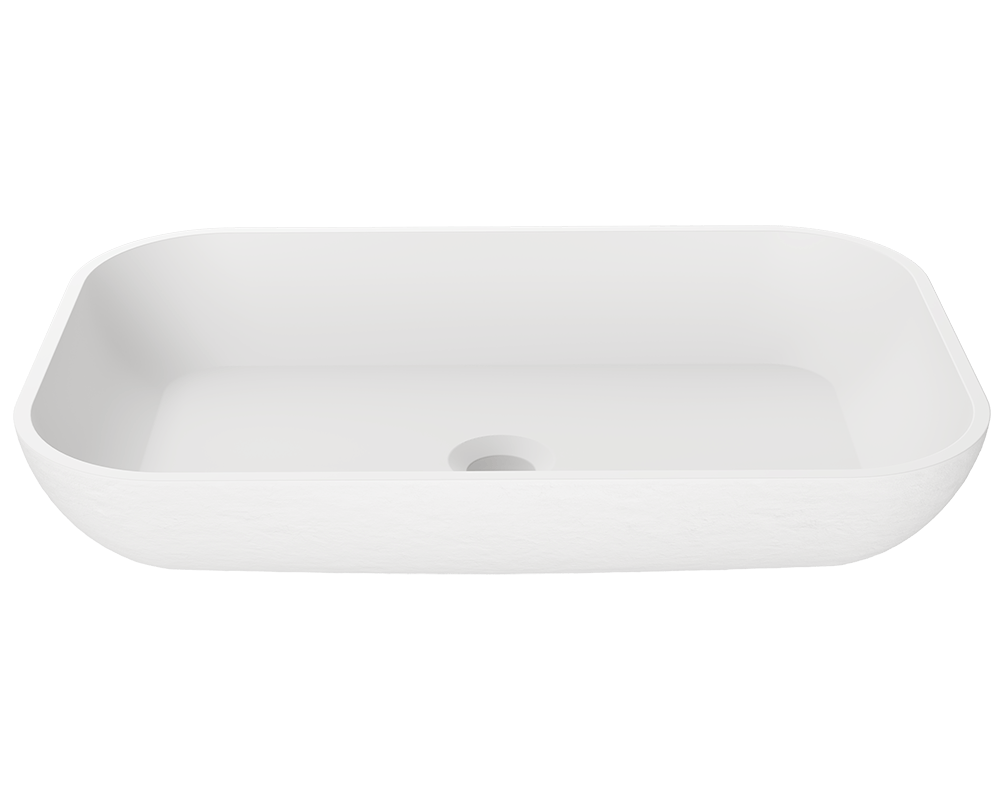 MR Direct AB210 PolyStone Rectangle Vessel Sink