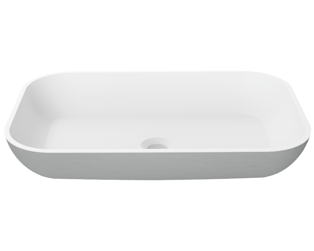 MR Direct AB240 PolyStone Rectangle Vessel Sink