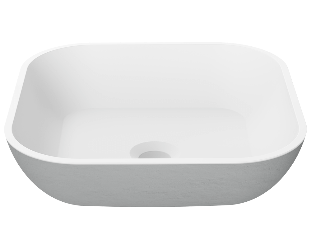 MR Direct AB340 PolyStone Square Vessel Sink