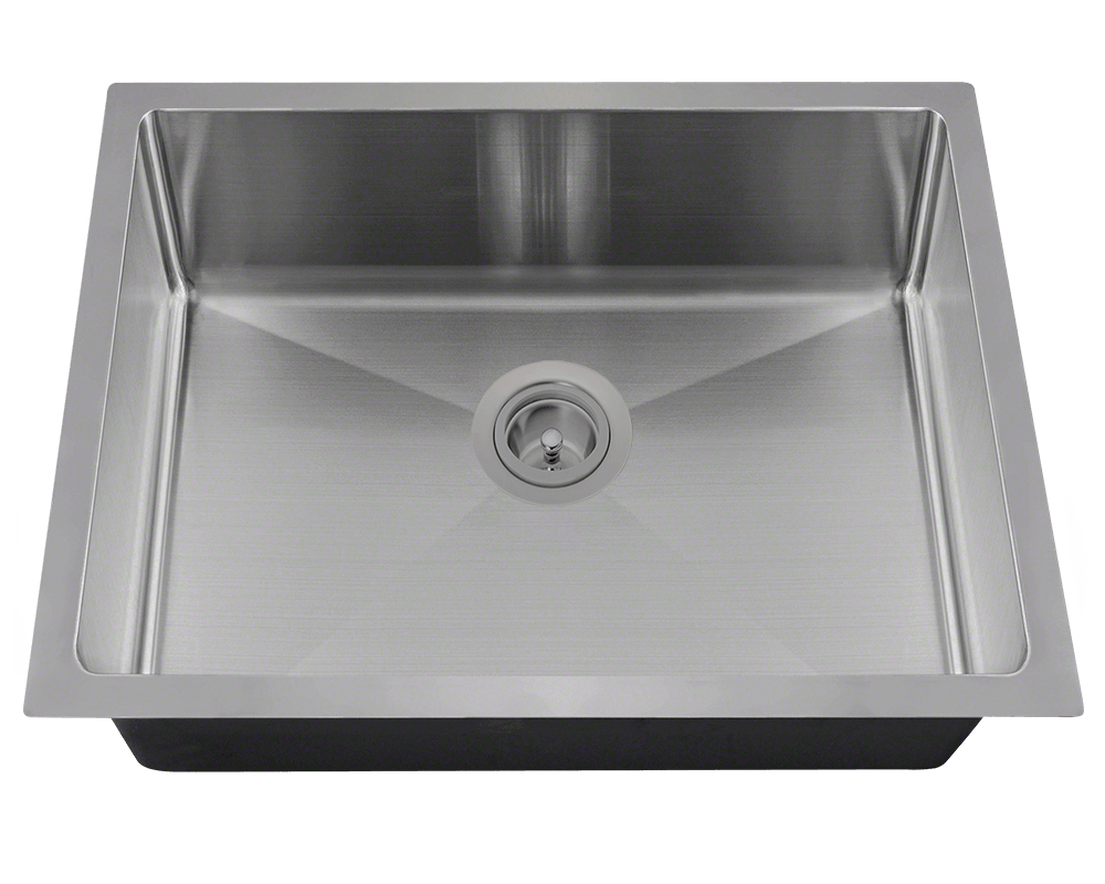 ADA1823-SLW Alt Image: 304-Grade Stainless Steel Rectangle Undermount to Laminate One Bowl Kitchen Sink