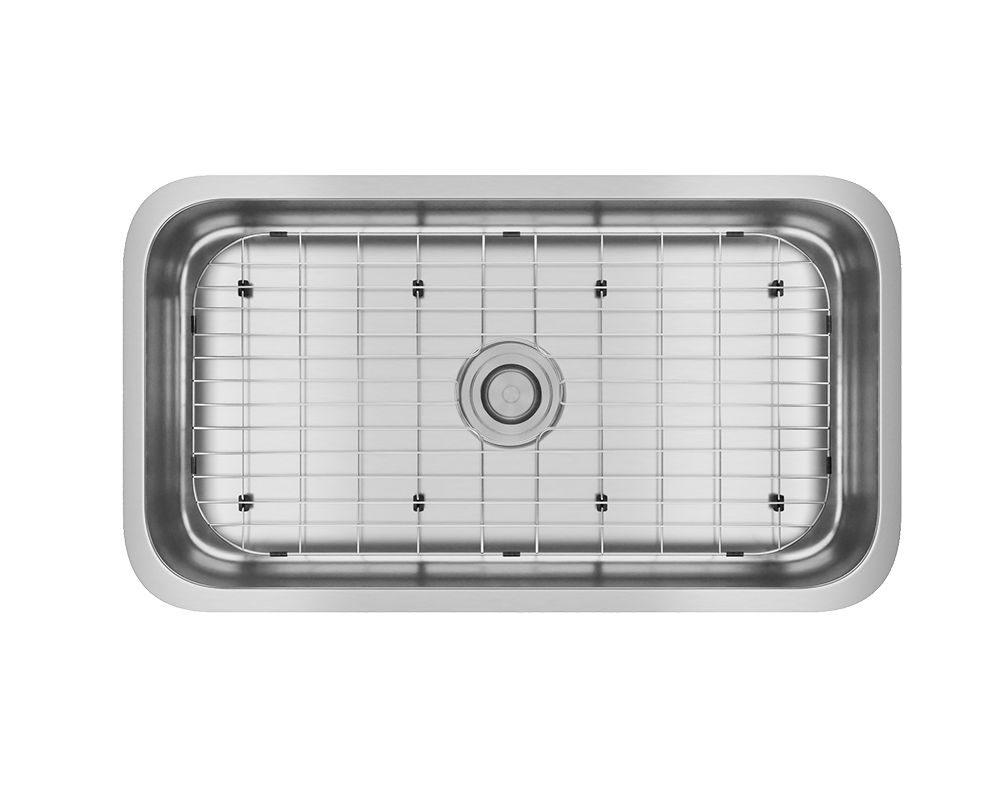 ADA3218C-SLG Alt Image: 304-Grade Stainless Steel Rectangle Undermount to Laminate One Bowl Kitchen Sink