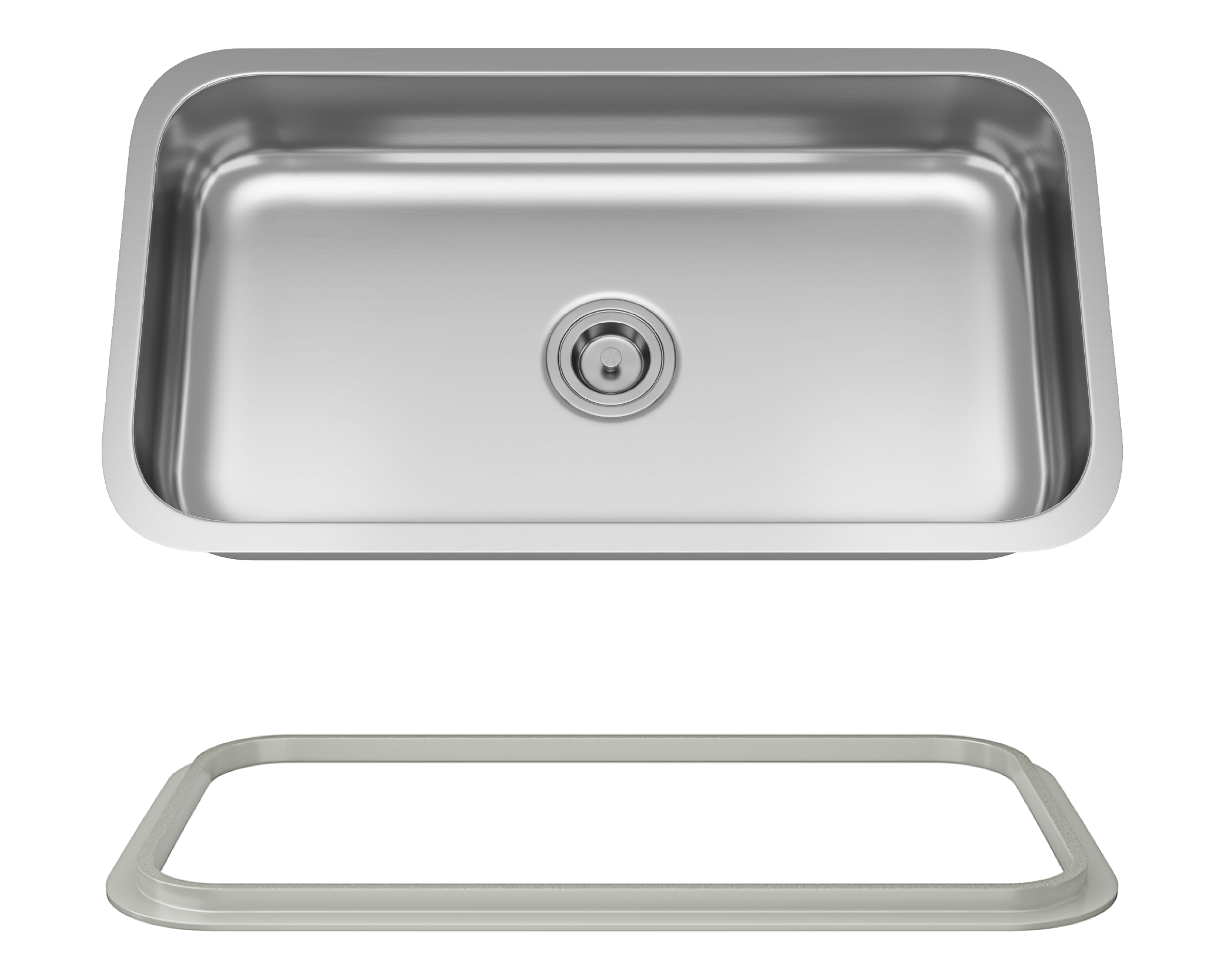 MR Direct ADA3218C-SLG Single Bowl Undermount Stainless Steel ADA Sink with SinkLink