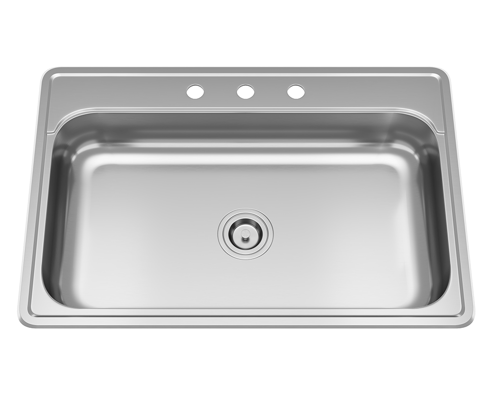 MR Direct ADAT550S Single Bowl Stainless Steel ADA Sink