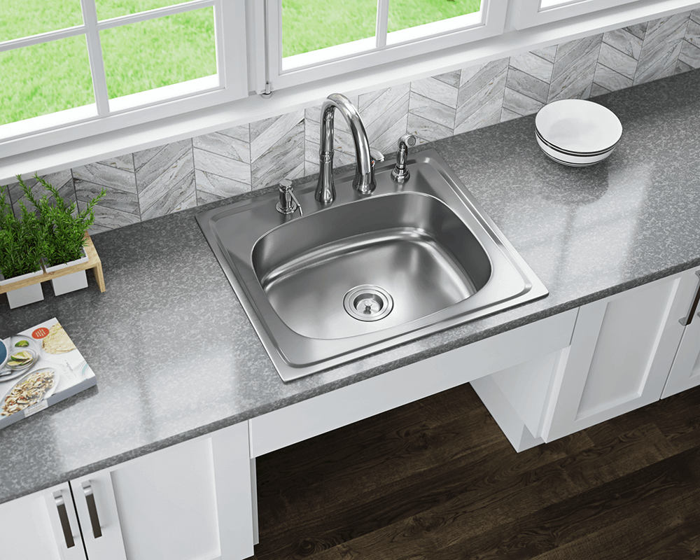 Stainless steel sinks and faucets for kitchens and baths mx2318t6 single bowl topmount stainless steel sink not yet rated mx2318t6 workwithnaturefo