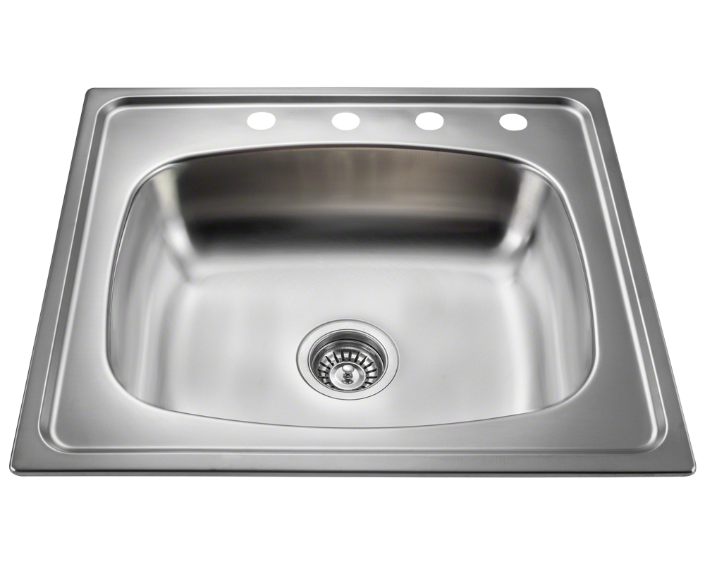 MR Direct MX2318T6 Single Bowl Topmount Stainless Steel Sink