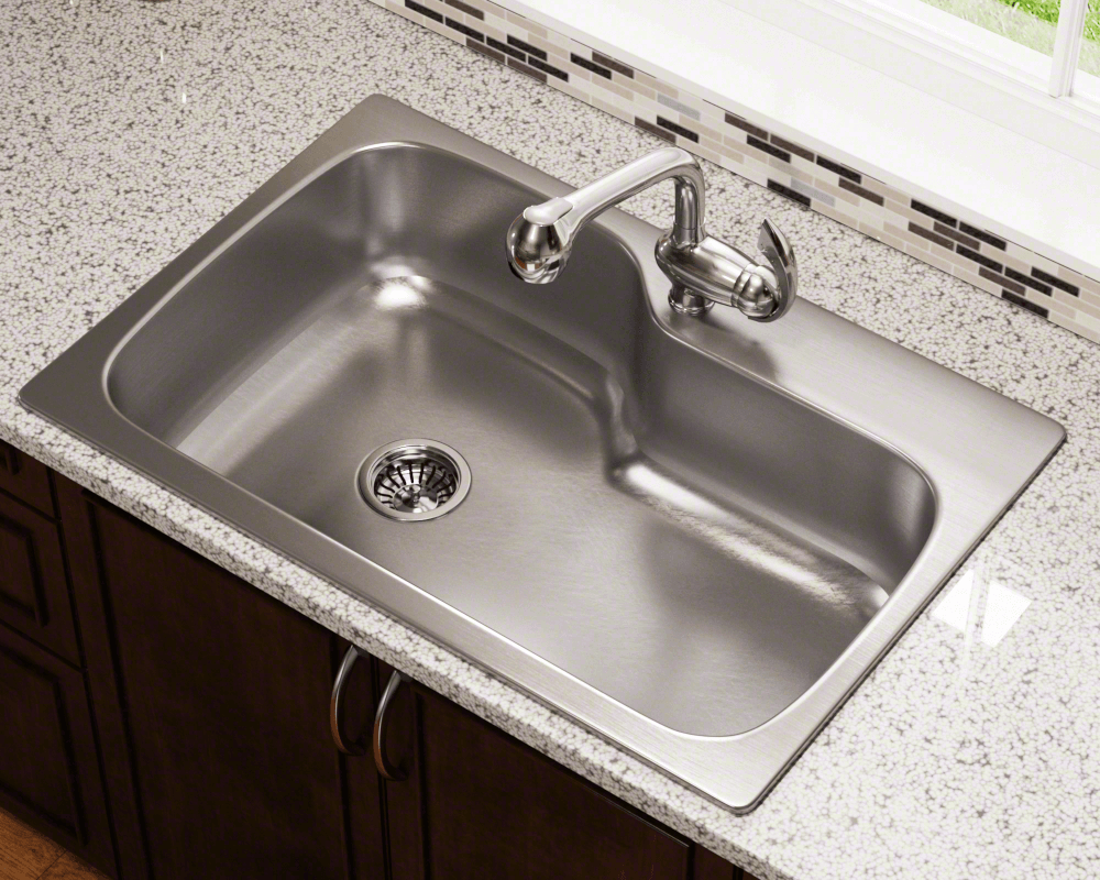 Mx346dm Single Bowl Dual Mount Stainless Steel Sink
