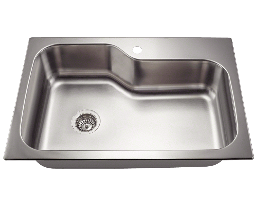 MR Direct MX346DM Single Bowl Dual-Mount Stainless Steel Sink