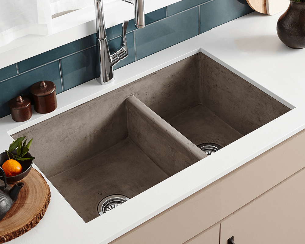 Nskd3321 A Farmhouse Double Bowl Kitchen Sink In Ash