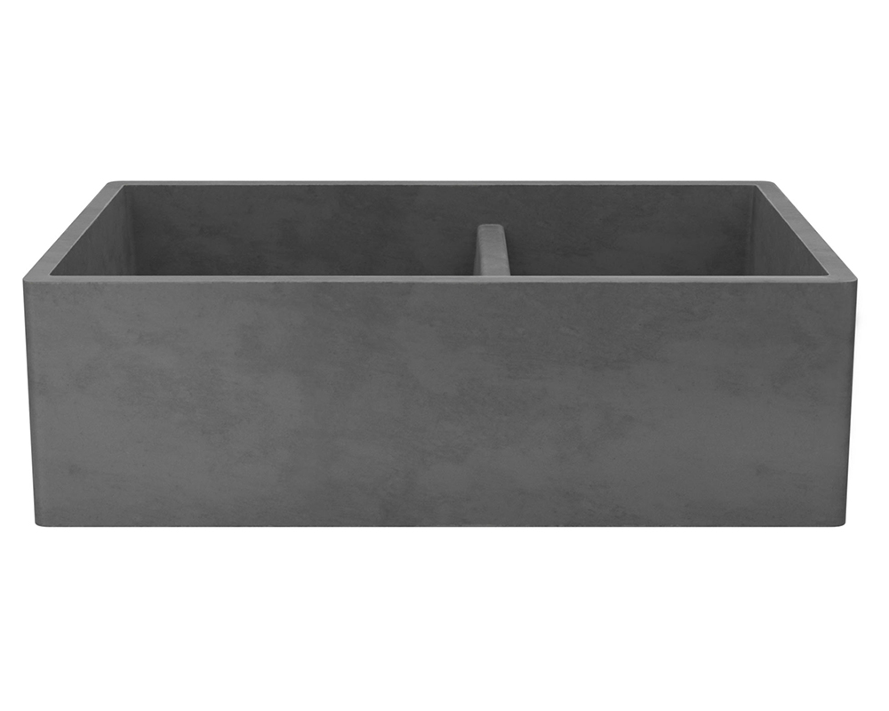 Nskd3321 S Farmhouse Double Bowl Kitchen Sink In Slate
