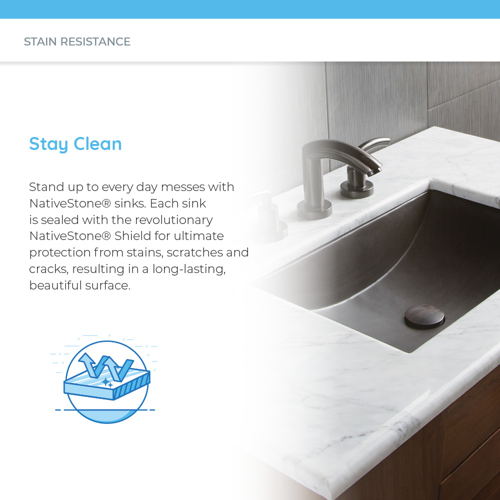 Clean and pristine concrete sink