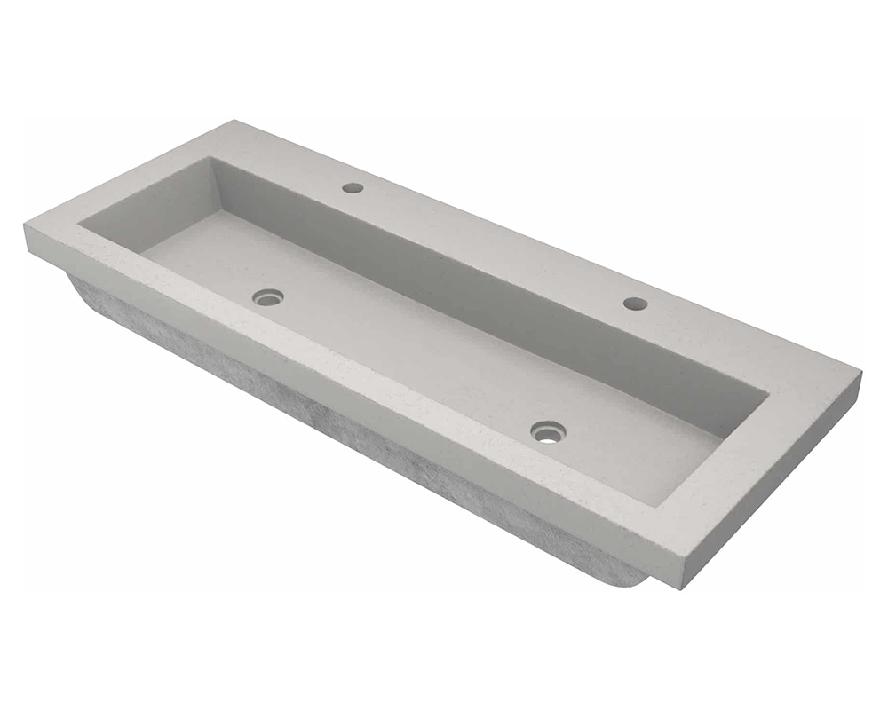 MR Direct NSL4819-A Trough 4819 Bathroom Sink in Ash