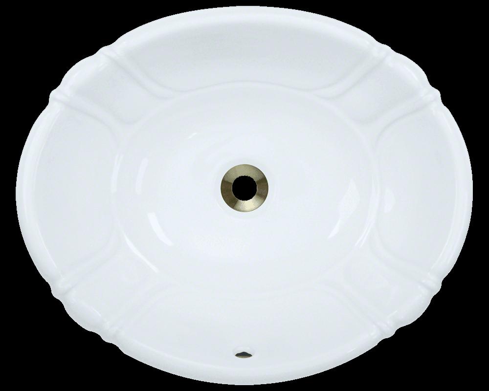 Bathroom Sinks Porcelain o1815-white white vessel / drop-in porcelain bathroom sink