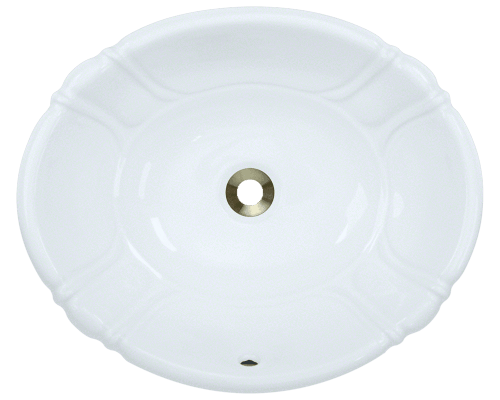 O1815-White Vessel / Drop-In Porcelain Sink