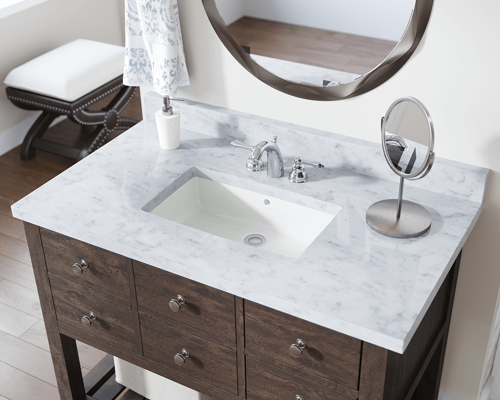 U1812 Bisque Rectangular Bathroom Sink