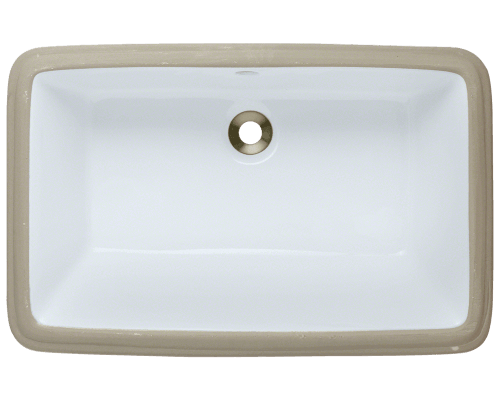 U1812-White Rectangular Bathroom Sink