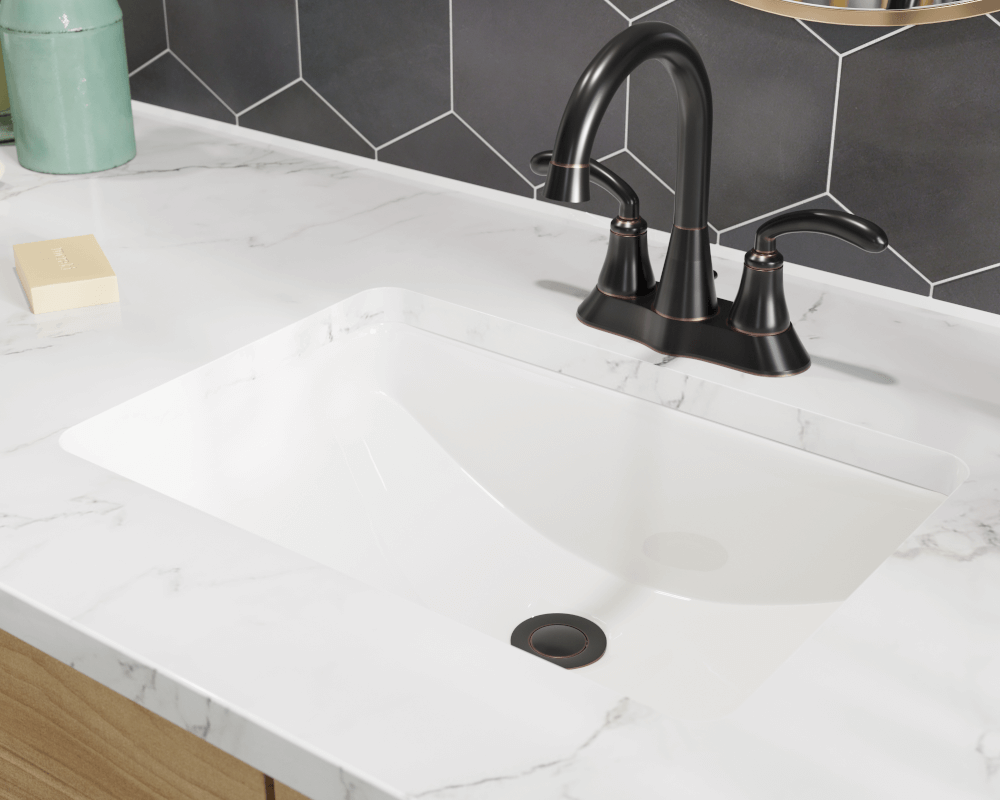 U1913 Bisque Bisque Rectangular Porcelain Sink