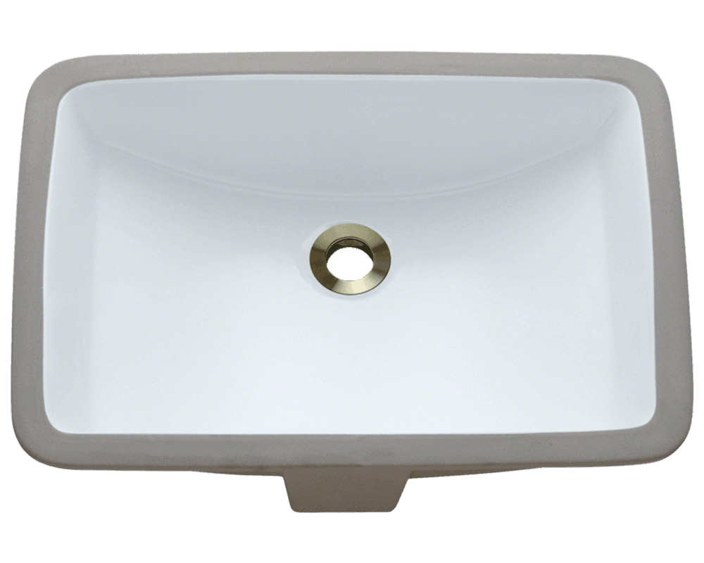 White Kitchen Sink Undermount U1913 White White Rectangular Porcelain Sink