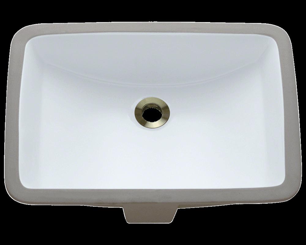 U1913 White Rectangular Porcelain Sink